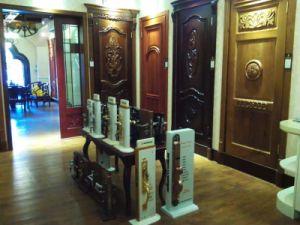 Solid Wood Door with Glass for Interior Door pictures & photos