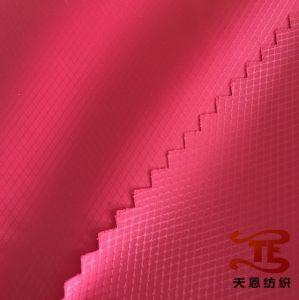 100% Nylon Fabric Diamond Check Nylon Ripstop Waterproof Fabric pictures & photos