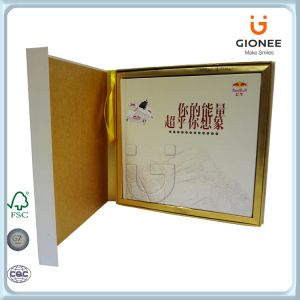 Custom Printed Cardboard Box with Hinged Lid pictures & photos