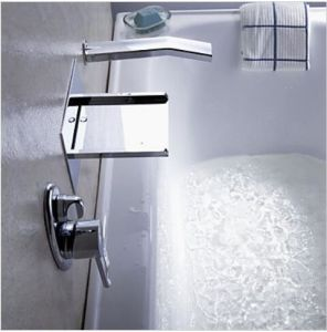 LED Waterfall Wall Mounted Brass Bath Shower Faucet pictures & photos