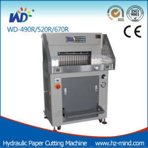 Professional Manufacturer Paper Cutter (WD-490R) Hydraulic Paper Cutting Machine pictures & photos