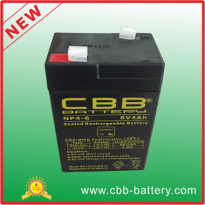<Cbb>Rechargeable Sealed Mf AGM VRLA Battery 6V4ah pictures & photos