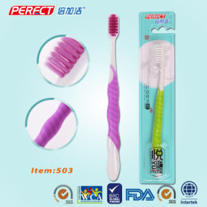 Perfect Colorful Tapered Adult Toothbrush pictures & photos