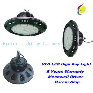 Lowest Price 100W/150W/200W/250W UFO LED Industrial High Bay Light with 5 Years Warranty pictures & photos