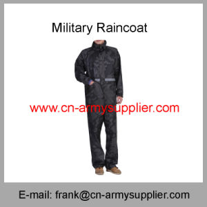 Reflective Raincoat-Army Raincoat-Traffic Raincoat-Security Raincoat-Duty Raincoat-Police Raincoat pictures & photos