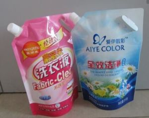 Eco-Friendly Liquid Packaging Plastic Spout Pouch Bag for Laundry Detergent pictures & photos