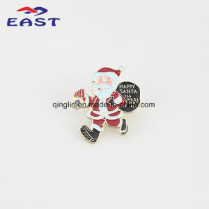 Christmas Day Santa Shape Metal Badge and Lapel Pin pictures & photos
