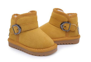 Brown Color Children Winter Boots