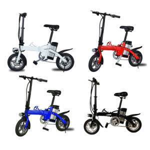 Fashion 12inch Portable Electric Folding Bike with LED Light pictures & photos