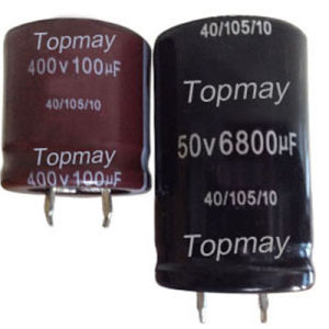 Snap-in High Frequency Low ESR Aluminum Electrolytic Capacitor 105c pictures & photos