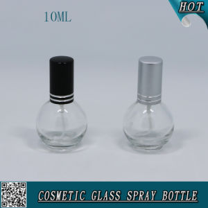 Refillable 10ml Clear Glass Perfume Bottle with Pump Sprayer pictures & photos