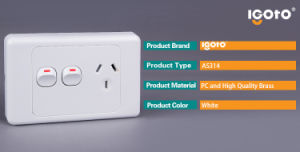 Australia Standard Single Powerpoint Socket with Extra Switch SAA Approved pictures & photos