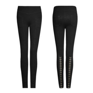 Pk-102 Punk Super Slim Multiple Segmentation Split Knitted Leggings pictures & photos