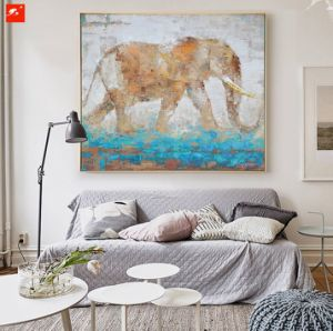 Wildlife Animal Wall Picture Elephant Oil Painting pictures & photos