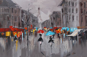 Home Decoration Art Oil Painting on Canvas for Paris Street pictures & photos