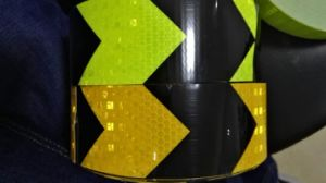 Yellow Black Green Adhesive Prismatic PVC Reflective Tape pictures & photos