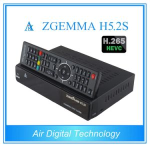 New Best Sale Zgemma H5.2s FTA Satellite Receiver Dual Core Linux OS E2 H. 265/Hevc DVB-S2+S2 Twin Tuners pictures & photos