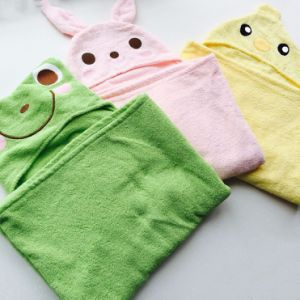 Wholesale Emboidered Cotton Terry Hooded Baby Towel pictures & photos