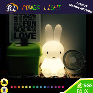 Multicolor Changing Rechargeable LED Ins Rabbit Night Lamp pictures & photos