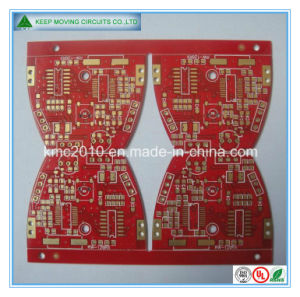 Fr-4 2 Layer Red Soldermask PCB with Immersion Gold pictures & photos