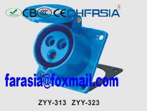 Socket for Industrial Application 3p Economic Panel Mounted