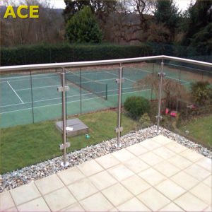 Semi Frameless Modern Durable Stainless Steel Glass Terrace Railing Designs pictures & photos