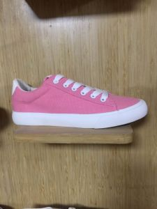 2016 Classic Style Vulcanized Rubber Outsole Lace up Canvas Fashion Shoes pictures & photos
