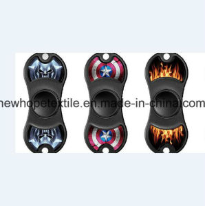 2 Leaf Printed Fidget Spinner Custom Print Promotional Customized Logo New Wholesale Plain Solid Color Premium ABS Spinners pictures & photos
