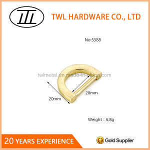 Light Gold Metal Flat Mini D Ring for Bags pictures & photos