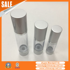 Factory Direct Matte Silver Airless Lotion Cosmetic Bottles pictures & photos
