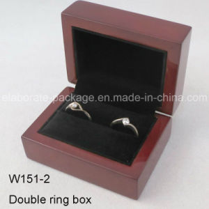 Hot Stamping Mahogany Cherry Jewelry Wooden Gift Box pictures & photos