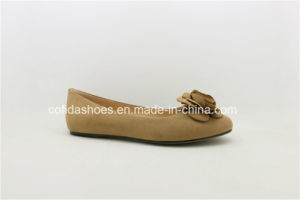 Latest Soft Flat Leather Women Ballerina Pump Shoes pictures & photos