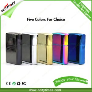 Windproof Electronic Rechargeable Cigarette Metal USB Lighter pictures & photos