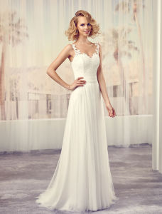 Taffeta Cap Sleeve Bridal Gown Open Back Wedding Bridal Dress pictures & photos