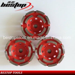 D125mm Double Row Grinding Cup Wheel pictures & photos