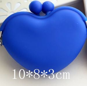 Custom Heart Shape Silicone Rubber Snap Coin Bag pictures & photos