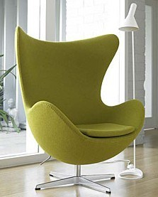 Modern Fabric Upholstered Metal Egg Chair pictures & photos