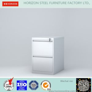 Steel Vertical Filing Cabinet with 2 Drawers and Recess Handle