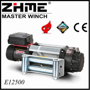 12500lbs 4X4 12V Electric Winch with Wire Rope pictures & photos