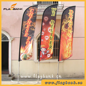 4.5m Advertising Aluminium Single Side Printing Flying Flag/Beach Flag pictures & photos
