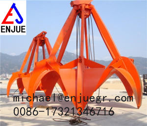 Mechanical Four Ropes Sand Rock Orange Peel Grab Grapple Refuse Grab for Steel Scrap pictures & photos
