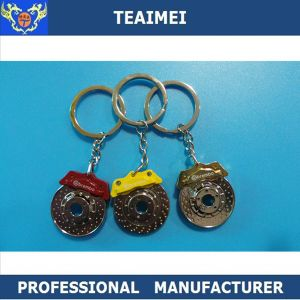 Brake Disc Car Logo Shape Zinc Alloy Keyring Metal Keychain pictures & photos