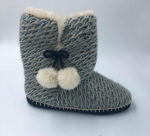 Women′s Knitted Winter Slipper
