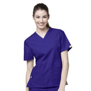 Women′s Slim Fit Scrubs V-Neck Nurse Uniform (A610)