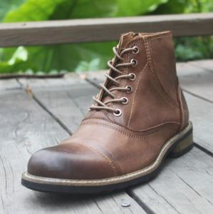 Mens Fashion Martin Boots Genuine Leather Shoes Ankle Boots (AKPX31) pictures & photos