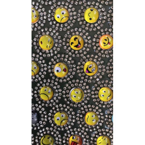 2017 Latest Smiley Face Emoji Rhinestone Transfer Glass Bead Motif Hot Fix Glass Bead Sheets (TM-smiley) pictures & photos