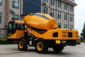 Haiqin Brand Mobile Concrete Mixer Truck (HQ400) with Self-Loading System pictures & photos