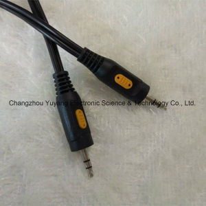 High Quality 3.5 Stereo to 3.5 Stereo Plug Audio/Video AV RCA Cable pictures & photos