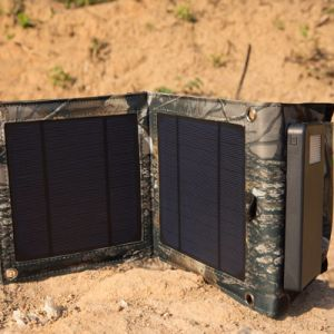 Foldable 5W Solar Panel External Battery Dual USB Charger with 4000mAh Power Bank pictures & photos