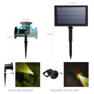 Solar Laser Light Star Projector Waterproof Spotlight Decoration Lighting for Garden Yard Landscape Christmas Holiday pictures & photos